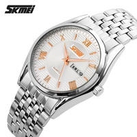 High Quanlity All Stainless Steel japan movt quartz Wrist Watches waterproof For Men