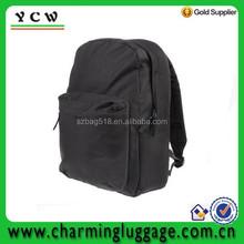 Wholesale black polyester school bag custom outdoor backpack