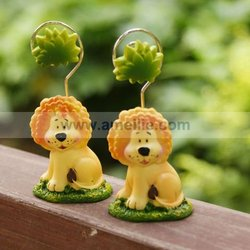 A07364 Baby Lion Design Animal Place Card Holder