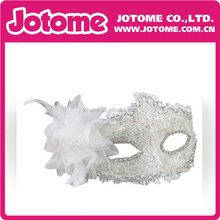 Christmas Masquerade Mask With feather flower