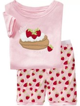 children short sleeve clothes set for age 2t-7t