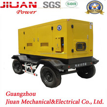 Sales price for 100kva soundproof power generator ,trailer/mobile /moveable generator set with engine OEM factory Guangzhou