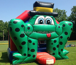 customized inflatable frog bouncer house, bouncer castle S143