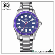 your logo custom classic japan movt quartz stainless steel battery in wrist watches