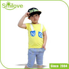 2015 girls clothing sets kids clothes little cat baby girl and boy short sleeve cotton set