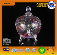 2015 Hot Selling Different Shapes For Choosing Wholesale Glass Candy Jar