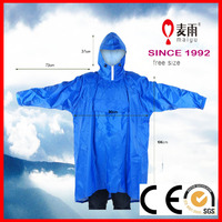Maiyu adult breathable 100% polyester waterproof rain poncho with sleeves