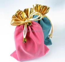 promotional custom velvet jewelry gift drawstring pouch bag