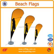 Public activity decorative beach feather flags for sale
