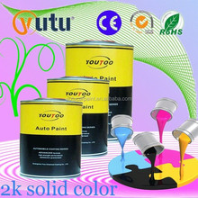 Acrylic Refinish Car Paint 2K Medium Yellow Solid Colours-Matched to Your Car