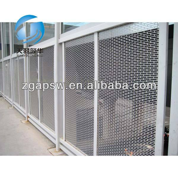 Tylh fachada chapa metalica perforada malla alambre acero - Chapa metalica perforada ...