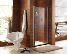 Top Sanitary curved glass shower enclosure glass enclosed showers