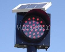 Red LED Solar Flashing Light