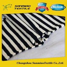 SANMIAO Brand top quality new designs black white stripe woven fabrics SBWHCP-165