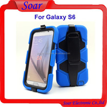New hot selling combo case for Samsung galaxy S6, 2 in 1 heavy duty hybrid case for Samsung galaxy S6