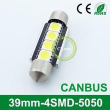 Factory price led high power lamp 39mm-4smd canbus led light 12 volt 5050 chip car 12v light led lamp