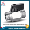 brass ball valve with hose connector brass ball vavle PN 40 mini brass body polishing CW617n material hydraulic nickel-plated