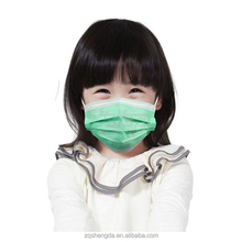 Hot sale disposable non-woven face mask blue / pink / white / orange