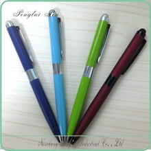 2015 Nice promotional silver metal blue clear picture logo military tactical pen