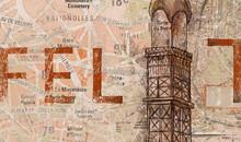 Gris Design Luxury Classic Style Grand Architecture Collection Art Decorative Theme The Eiffel Tower Non-woven Paper Wallpaper