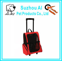 Custom Dog Carrier Backpack with Integrated Trolley and Telescopic Handle