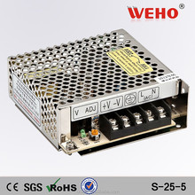 25w switching power supply 5v 5a ac dc power