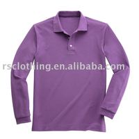 Men's Cotton Polo Shirt, Long Sleeve Polo Shirt