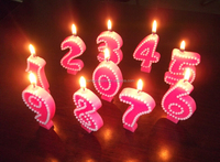 Eco-Friendly PInk Happy Birthday Number Candles