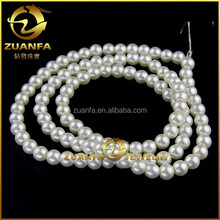 wuhzhou supplier 9mm white round loose imitation pearl beads