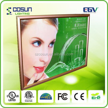 UL/CE approvals Aluminum Snap LED Poster Picture Photo Frame
