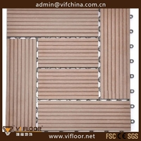 Outdoor waterproof WPC Composite DIY Wood Flooring