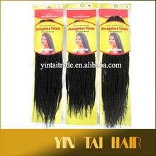 "2015 Hot sale18"" 95g Crochet braids hair Senegalese twist Synthetic Afro Kinky Hair Braids 2# 4#"