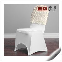 Hot Sale Wedding or Banquet Used Spandex Chair Cover with Rose Sashes