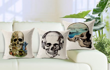 New Wonderful Skull Sofa Seat Cushion Cover Replacement