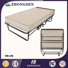 China Supplier Metal Hotel Rollaway innovative 3 legs folding beach bed