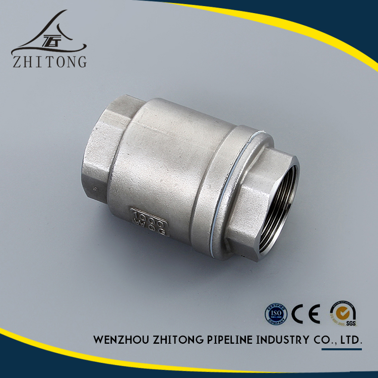 Direct factory of wog stainless steel vertical check