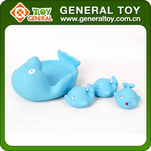 4PCS Rubber Soft Sea Animal Dolphin Family Bath Toys