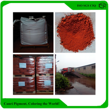 Red color strength decorative concrete pigment