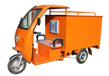 Closed Cargo Box Battery Operated Electric Cargo Tricycle for Express Delivery