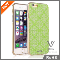 3D stylish flower pattern back cover case for iphone 6 ,pc tpu case for iphone 6