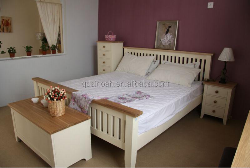 Mobília Do Quarto de pinho pintado de brancoConjuntos de quartoID