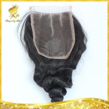 Factoy direct supply Wholesale price 2015 new arrival Brazilian virgin human hair ,loose wave lace closure