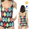 wholesale printed one piece sex girl xxl new sex swimsuit