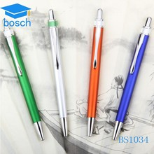 Top quality custom silver plastic promotional pen with logo