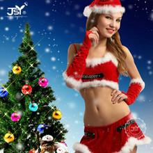 Nuovi arrivi 2015 rosso santa claus vestito, due pezzi costumi playboy santa