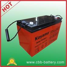 2015 Top quality 100ah 12V Deep cycle AGM Storage ups backup battery