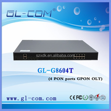 Fiber Optic gateway Telecom Equipment FTTX FTTH GPON 4 PORT OLT