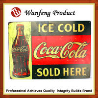 2015 New design wholesale price custom embossing euro style metal tin sign board factory supply