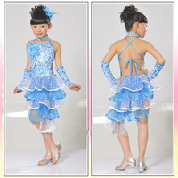 Children's dance dress Latin dance skirts and dresses girls skirt children's dance performances costumes