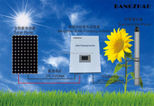 3.7KW monocrystalline silicon solar panels system for LCD display submersible pump inverter